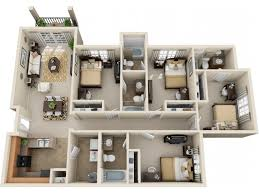 four bedroom floor plans southern housing floor plans cus crossings