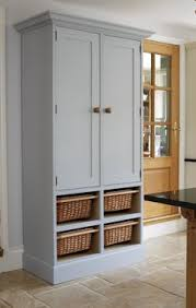Free Standing Kitchen Storage by Hand Made Painted Bespoke Kitchen Larder Cupboard Unit Kitchen