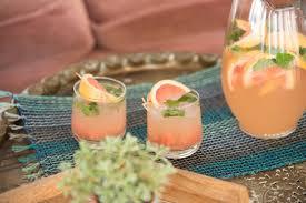 large batch grapefruit gin and tonic cocktail recipe hgtv u0027s