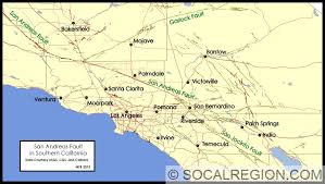 san francisco fault map san andreas fault in southern california southern california