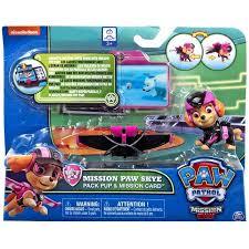 paw patrol pack pup u0026 mission card mission paw skye figure