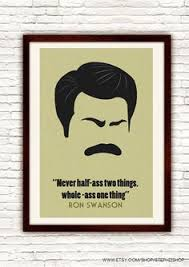 ron swanson inspirational quotes google search art pinterest