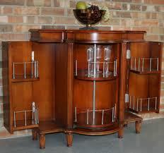 Oak Bar Cabinet Awesome Light Brown Varnished Oak Home Mini Bar Cabinet With Fold
