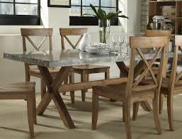 steel top dining table top wrapped braxton dining table intended for metal top dining table
