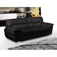 canap 3 places en cuir canapé 3 places en cuir thibault noir achat vente canapé
