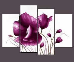 Plum Home Decor by Amazon Com Wieco Art Large Purple Plum Flowers Modern Wrapped