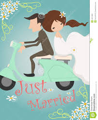 just married cards just married wedding invitation card design stock vector