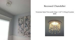 changing recessed light to chandelier best new recessed light chandelier home remodel or lighting convert