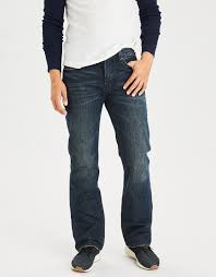 denim blue mens blue denim jeans american eagle outfitters
