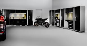 new age garage cabinets furniture newage products design white wall also concrete flooring
