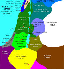 middle east map moses time canaan