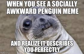 Socially Awkward Penguin Meme Generator - awkward moment sealion meme imgflip