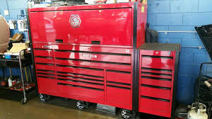 matco 5s tool box with side cabinet and tall hutch tools