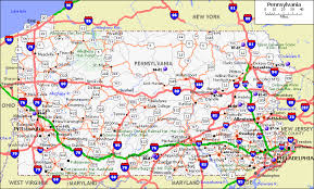 map of pa physical map of pennsylvania