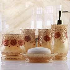 badezimmer zubehör günstig gold möbel dajiaxiaoshu badezimmer zubehör sets günstig