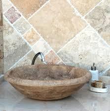 bathroom vintage oval stone vessel sinks bathroom ideas on the