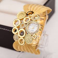 ladies watches bracelet style images Women 39 s new styles glod chains bracelet watch vogue lady watch jpg