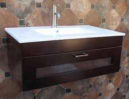 36 inch bathroom solid wood wall mount vanity cabinet with ceramic