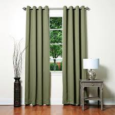 Black Out Curtain Panels Aurora Home Grommet Top Thermal Insulated 96 Inch Blackout Curtain