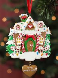 ready to personalize gingerbread house ornament