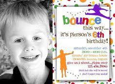 bounce house birthday party invitation for girls pump it up party