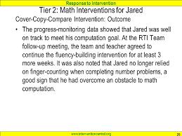 response to intervention foundations of math skills u0026 rti