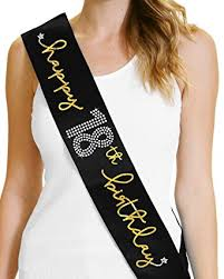 happy birthday sash happy 18th birthday gold foil sash 18th birthday party gifts for