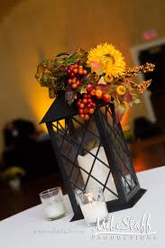 Lanterns With Flowers Centerpieces by Fall Wedding Reception Centerpiece Weddings Mike Staff