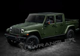 jeep army green here u0027s a first look at what the new jeep wrangler pickup might