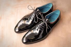 dominique saint paul whole cut dress shoes in black patent leather