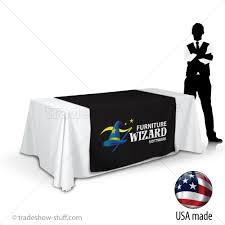 trade show table runner 48 custom trade show table runner with logo