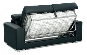 canape lit en cuir canape lit cuir noir canapac convertible 3 places en cuir noir glam