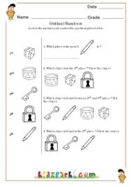ordinal numbers turtle ordinal number worksheets for first grade