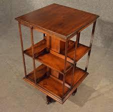 Oak Revolving Bookcase Antique Oak Revolving Bookcase Library Stand Quality English