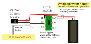 control water heater using 30 amp switch in 240v receptacle wiring
