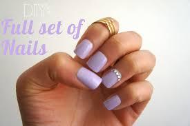 diy full set of nails no acrylic u0026 drills zeena xena