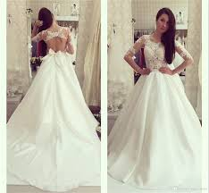 discount fitted wedding dresses lace applique backless satin