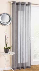 Linen Voile Curtain Fabric Eyelet Voile Curtain Panel Linen Look Lace Curtains Single Panel
