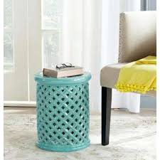 Aqua Side Table Blue Outdoor Side Tables Patio Tables The Home Depot
