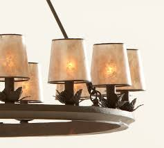 Mini Shade Chandelier Mini Mica Drum Chandelier Shade Set Of 3 Pottery Barn