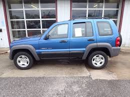 2003 blue jeep liberty 2003 jeep liberty 4dr sport 4wd suv in eastlake oh
