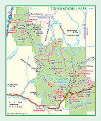 map of zion national park zion national park wall map by geonova