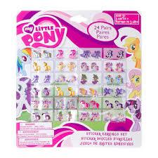 my pony earrings my pony princess sticker earrings from s