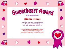 sweetheart certificate