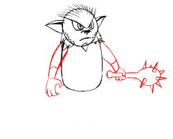 how to draw a bugbear for kids howtodrawforkids com
