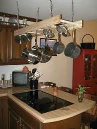 Kitchen Hanging Pot Rack by Hanging Pot Rack Made From An Old Wooden Ladder I Will Have One