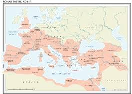Roman World Map by World History Maps