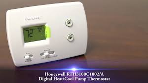 honeywell rth3100c1002 a digital heat cool pump thermostat youtube