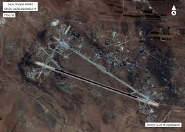 Likely Syrian Missile Targets In Google by Video U S Destroyers Fire 59 Tomahawks On Syrian Airfield In