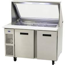 48 inch sandwich prep table used randell commercial prep tables unified brands